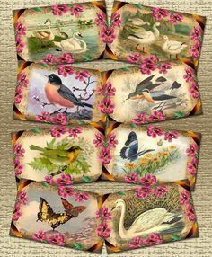 vintage digital collage sheets