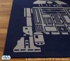 Why is this R2 rug in Pottery Barn for KIDS? R2 is ageless! :) #starwars