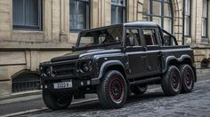 You know why the Land Rover Defender was never as popular as the G-Class? Because it lacked the crucial wow factor. British car customizers Kahn Design have fixed all that by creating a sort of chimera with the body of a truck, the interior of a sportscar and the feet of an army vehicle. Say hello to the Flying Huntsman Pickup 6×6!