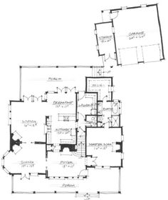Allison Ramsey Architects | Floorplan for Hanesworth - 3211 sqaure foot house plan # NC0058