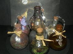 Try making these herb spell balls using clear Christmas ornaments