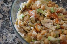 ENSALADA TEMPLADA DE CUSCUS Y GARBANZOS (couscous and chickpeas warm salad)