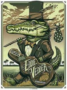 Munk One Eddie Vedder Orlando, Tulsa and Memphis poster Rock Posters, Band Posters, Music Posters, Retro Posters, Poster Vintage, Rock And Roll, Concert Rock, Pearl Jam Posters, Ps Wallpaper