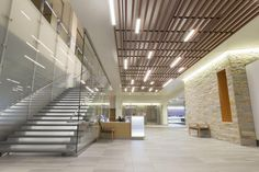 The lobby area inside ProHealth Care's new cancer center. Photo: Gilbane Building Company