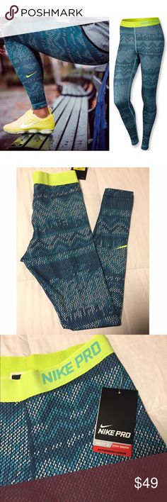 Nike Pro Leggings These are awesome leggings! Super comfy and super cute! Love these! Brand new with tags! size Small Nike Pants Leggings