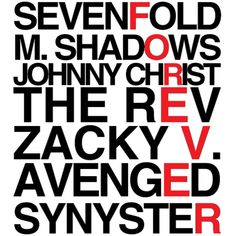 ♥ avenged sevenfold
