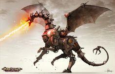 PURE STEAM - Steam Dragon by 47ness.deviantart.com on @deviantART