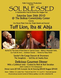 Tuff Lion, Iba, Abja Show in Bolinas, CA 2010
