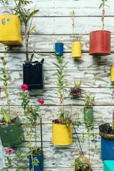 Spectacular Landscape Design Ideas for Small Backyards This recycled vertical hanging garden is perfect for landscaping a small backyard: just one of the ways you can add interest to a tiny backyard.