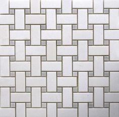 26002 Basketweave White Thassos & Bianco Carrara insert