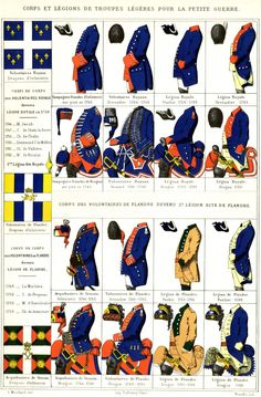 Evolution of French light infantry and cavalry (inspired by Austria's Pandours) from the 1740's to the 1760's.