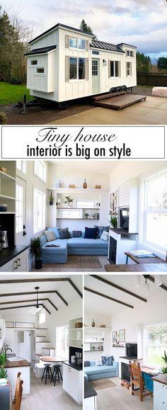 This custom-built tiny house is big on interior design