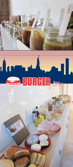 petits+joe: Burger party Soirée Bbq, Burger Party, Diner Party, American Burgers, Usa Party, Summer Potluck, American Party, Bobs Burgers, Backyard Bbq