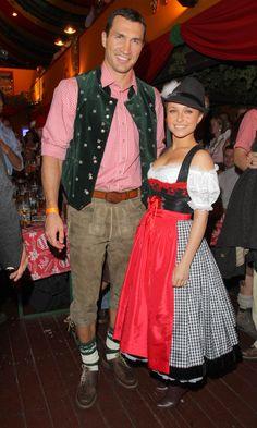 Hayden Panettiere in an Angermaier Dirndl  at Oktoberfest 2010