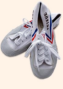 Feiyue, well done and fine for martial arts - indoor and outdoor. Have got a pair (black) yesterday.