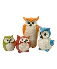 Another great find on #zulily! Enchanted Owl Decor Set #zulilyfinds