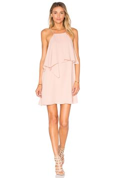 krisa Flounce Top Mini Dress in Cosmetic