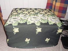 Flounces and Frills - pouffe (ottoman) slip cover