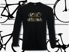 T-shirt Men Long Sleeve Bicycles  T-shirt Men Long by KLogShirts