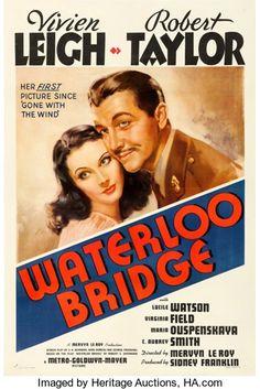"Movie Posters:Romance, Waterloo Bridge (MGM, 1940). One Sheet (27"" X 41"")..."
