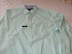Tommy Hilfiger dress shirt 7871241 eggshell 424 S classic fit Men's long sleeve #TommyHilfiger #ButtonFront