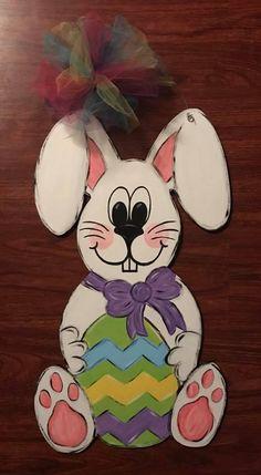 cute easter bunny door decor