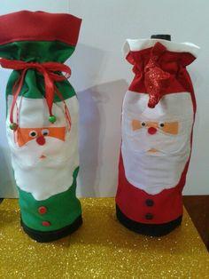 fundas navideñas para botellas