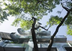 Chinese studio People's Architecture Office used metal air conditioning pipes to create giant Chinese characters during Beijing Design Week 2015.
