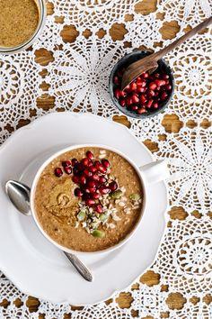 Chocolate + Pear + Hazelnut Overnight Oats by Faring Well #vegan #recipe