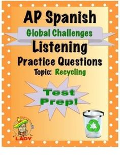 FREE Spanish listening activity. Authentic audio about recycling with multiple choice comprehension questions.