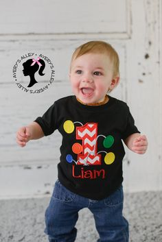 Bouncy Balls Birthday - Any Age! Number and Personalized Name - Boys Applique Black Shirt or Bodysuit Ball Theme Birthday, Bouncy Ball Birthday, Birthday Ideas, I Love My Son, Unisex Fashion, Black Shorts, Sleeve Styles, First Birthdays, Applique