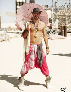 Ha HA!!! Look what I found on Pinterest :)   Street Style You Have To See: First-Ever Burning Man Edition | StyleCaster