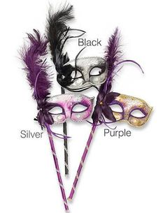 masquerade masks on a stick - Google Search