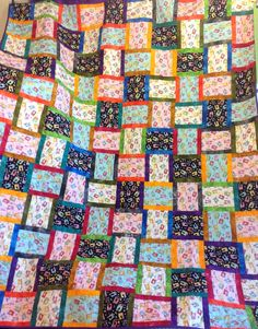 "This is the amazing quilt that the kit from previous post will make. It is 64""x76"" great size for lounge or single bed without hanging over the sides. I am at the Eumundi square markets selling the kits or the quilt all made up. Quilt sells for $160 kit sells for $100 without wadding. www.byndees-precuts.com #eumundisquaremarkets #iloveeumundimarkets #handmadequilts #foodnetcover #visitnoosa #brightquilt #jellyrolls #sunshinecoast #handmade #handmadeonsunshinecoast #fabric #patchwork…"