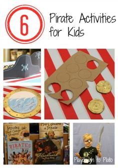 Use your imagination! Have fun with these 6 Pirate Activities for Kids from @Malia Littlefield {Playdough to Plato}!