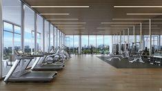 Ricardo Bofill debuta en Miami con proyecto residencial de lujo,Fitness Amenities Rendered View. Image Cortesía de Nadine Johnson & Associates