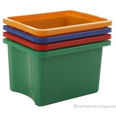 (Pack of 5) 24 Litre Stack and Store Plastic Storage Boxes