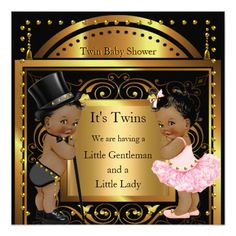 twins boy girl blue gold baby shower - Yahoo Image Search Results