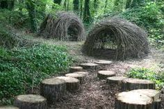 The Children's Garden................... Wild Places for solitude , exploration and inspiration. Children's huts