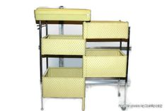 1960s Vintage Wicker Baby Changing Table and Drawers by RayMels, $100.00