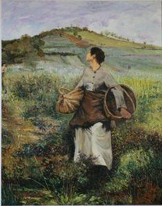 Jules Bastien-Lepage - At Harvest Time, Damvillers, 1880.
