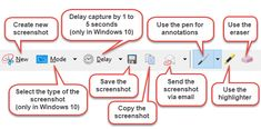 How to take screenshots using the Snipping Tool, how to save, edit or email a screenshot, how to use the available markup tools and change its settings. Snipping Tool, Document Management System, Windows 10, Save Yourself, Tools, Learning, Innovation, Software, Technology