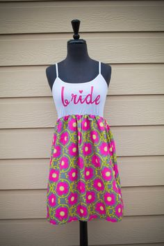 Pretty Perfect in Pink BRIDE Dress Pink Floral by thearmorofGod, $49.00