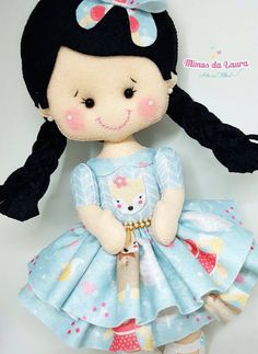 ARTE COM QUIANE - Paps e Moldes de Artesanato : Molde Boneca linda com trança Mimos da Laura com Molde Erica Catarina