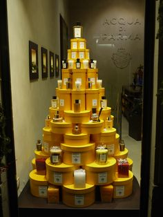 This would be cool if we had enough round boxes!! Could put snowmen, houses, etc. on it instead of perfume.