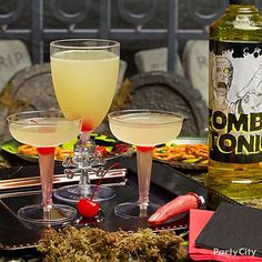 Un-dead-man's party! Wake up a zombie zone with a classic Corpse Reviver No. 2 cocktail. Click for recipe!