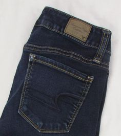 American Eagle Skinny Ankle Jeans Low Rise Dark Wash Stretch sz 00 X 29…