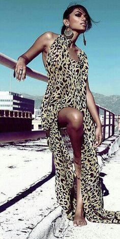 Stampa animalier come indossarla 50 outfits 182 - Stampa animalier: come indossarla 50 + outfits Leopard Fashion, Animal Print Fashion, Fashion Prints, Animal Prints, Leopard Prints, Rock Style, Motifs Animal, Mein Style, Mode Boho