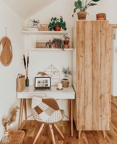 Home Interior Decoration .Home Interior Decoration Study Room Decor, Cute Room Decor, Room Ideas Bedroom, Bedroom Decor, Desk In Bedroom, Ikea Bedroom, Cozy Bedroom, Home Office Design, Home Office Decor