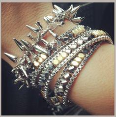 Stella & Dot Renegade bracelet + Luna Wrap bracelet. A little rock & roll glam. www.stelladot.com/ashleykoekkoek